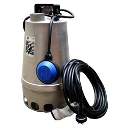ZEN-DGSTEEL55MA - PUMP SUBMERSIBLE SLIGHTLY DIRTY WATER 330L/M 8.1M 0.55KW 240V