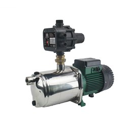 DAB-IEUROINOX40/80M PRESSURE SYSTEM WITH ADJUSTABLE AUTO RESTART CONTROLLER 120L/M 59M 1.0KW 240V