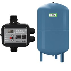 iPRESS Controller and GWS 100Lpressure tank