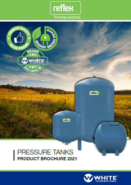 White International Reflex Pressure Tanks Product Range